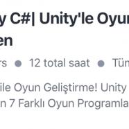 Unity ile Oyun Geliştirme